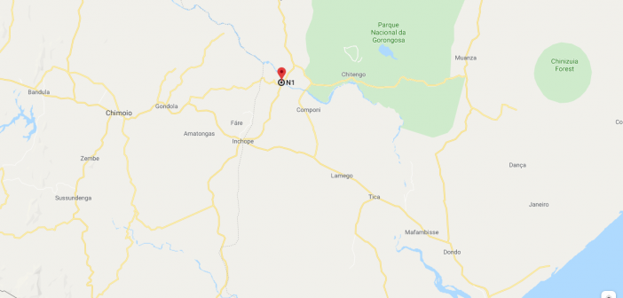 The approximate location of the confrontation on 23 October 2019